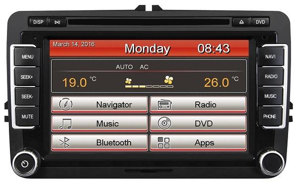 ESX VNC710-VW-U1-DAB Naviceiver Fahrzeugspezifischer Autoradio für VW, Seat, Skoda