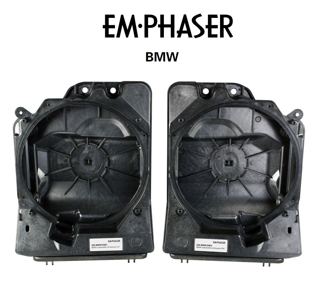 Emphaser EM-BMW3SBC Subwoofergehäuse für BMW 3er F30/F31/F34/F35/G20/G21/E90/E91/E92/E93 Fahrzeuge