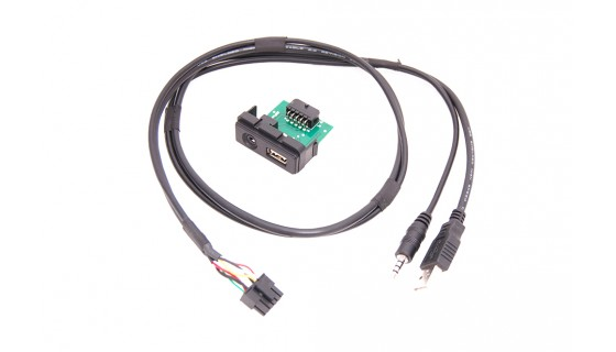 RTA 005.370-0 USB cable kit specific vehicle , Mazda USB 2.0 + AUX connector L = 68cm