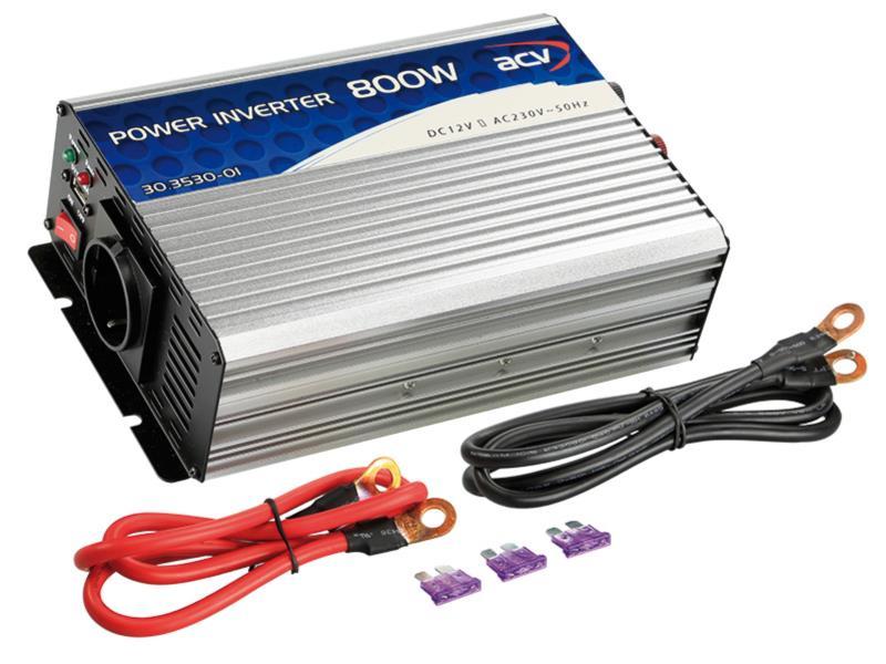 ACV 30.3530-01 Spannungswandler 12V -> 230V 800W 50Hz - 5V / 500mA USB