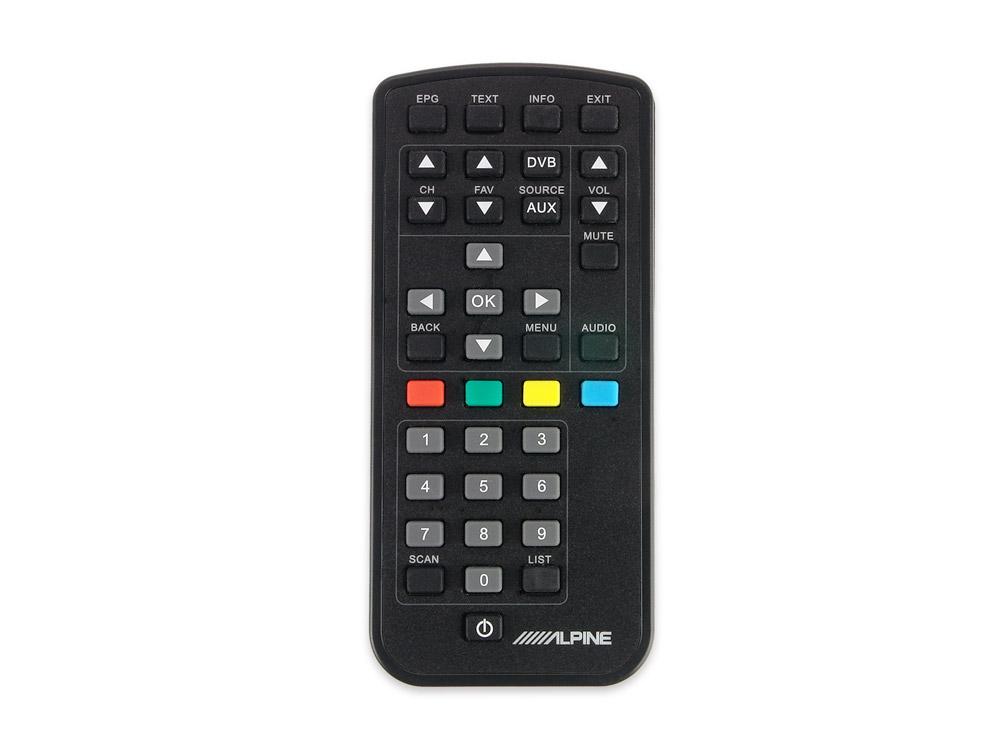 Alpine TUE-T220DV Mobiler Digitaler TV-Empfänger (DVB-T2), inkl. 2 Antennen, Fernbedienung und HDMI-Ausgang