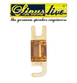 Sinus Live Mini-ANL-fuses, gold plated, 40A, unit