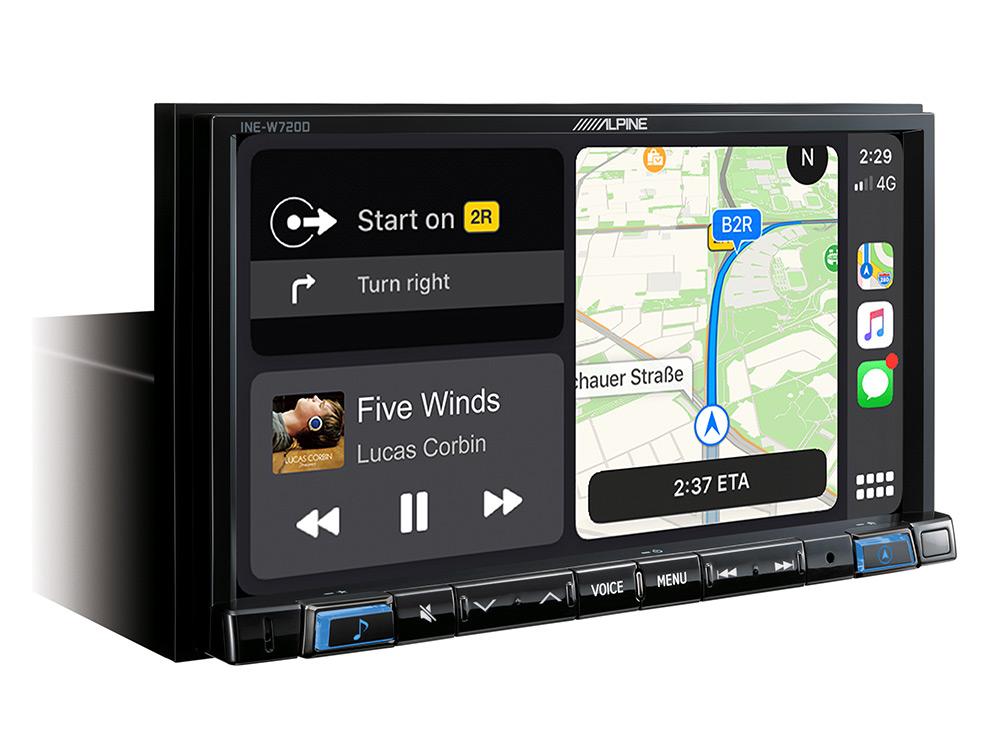 Alpine INE-W720DC Navigationssystem mit DAB+, 7-Zoll Display, Wohnmobil- & LKW-Software vorinstalliert, Apple CarPlay und Android Auto Unterstützung
