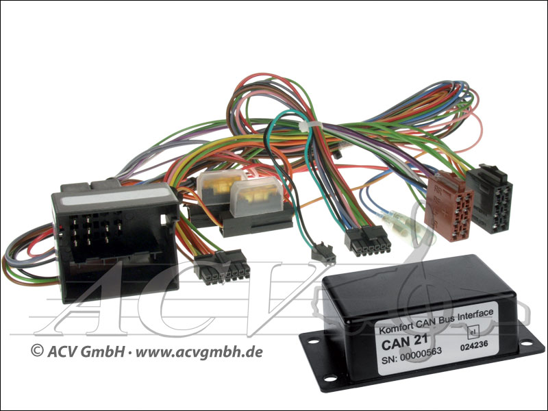 12-1024-00-57 BMW CAN-BUS mit MFL auf Variocom + Radio