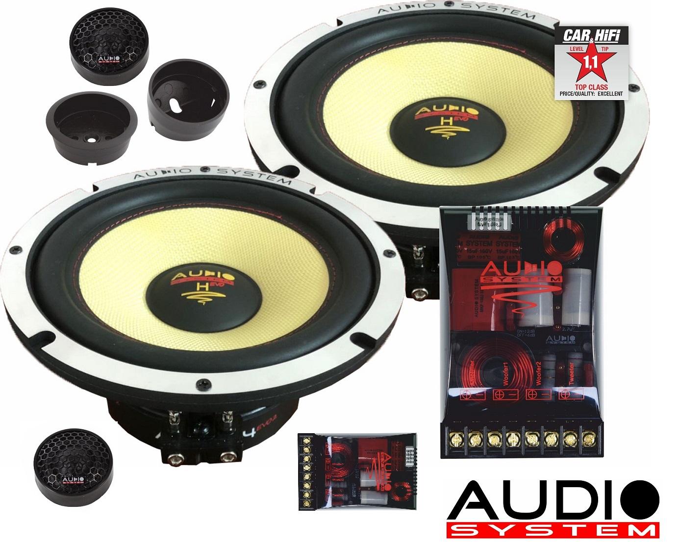 Audio System H 165 EVO 2 Helon SERIES 2-OHM 16,5cm 2-Wege System EXTREM KICKBASS Lautsprecher