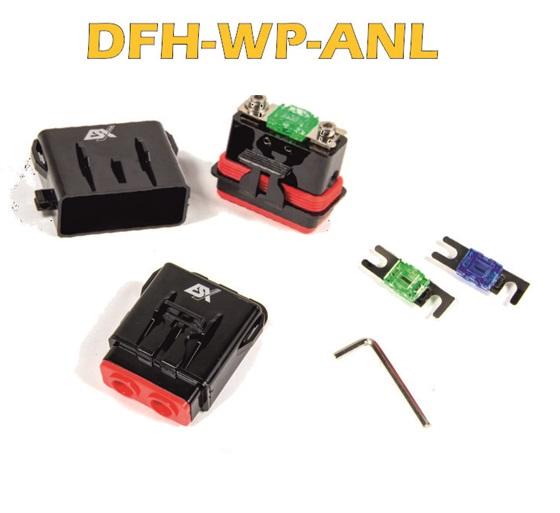 ESX DFH-WP-ANL Wasserdichter Sicherungshalter für Mini ANL oder ATC Sicherungen