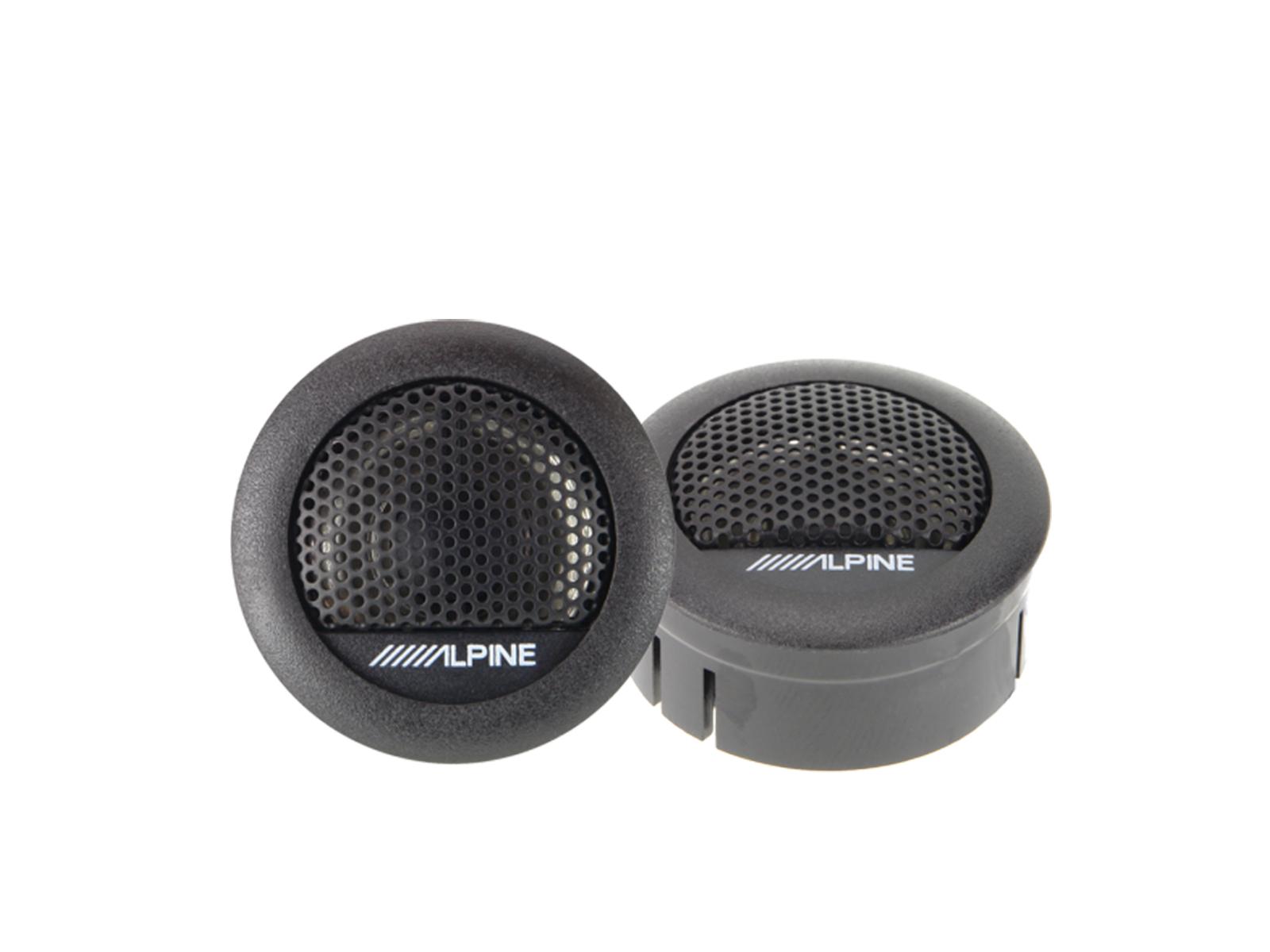 Alpine SXE-1006TW Mylar-Titanium Hochtöner 30 mm 1 Paar Tweeter 280 Watt