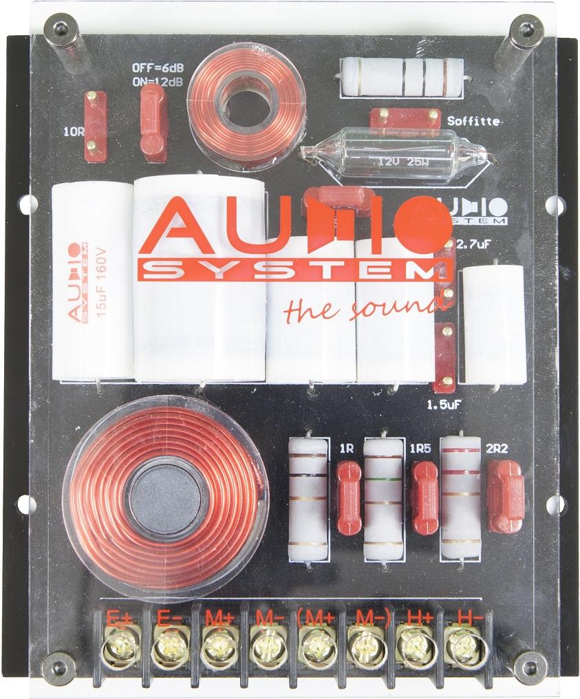 AUDIO SYSTEM FWHX EVO Frequenzweichen / Crossover 1 Paar (2 Stück) 2-WEGE HIGH-END Frequenzweiche