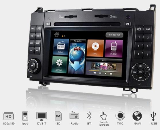 Dynavin DVN-MBA Multimedia Navigation N7 Plattform für VW Crafter (2EC1/2EC2/2EKE1/ 2EKE2/2EKEZ) 04/2006-> inkl. Navigationssoftware iGo Primo