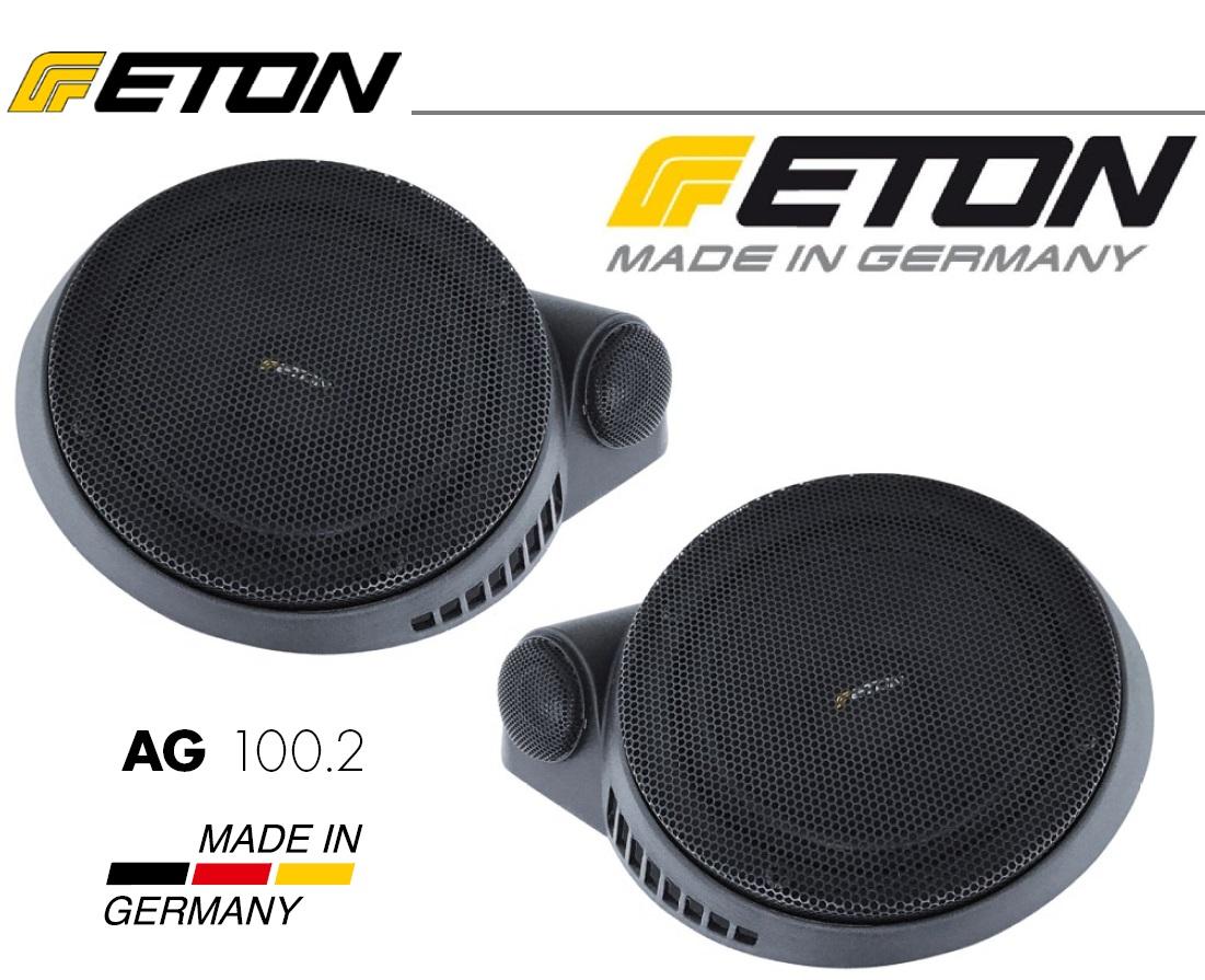 ETON AG100.2 10 cm 2-Wege Compo im Aufbaugehäuse 1 Paar geeignet für z.B. Deckenmontage in Wohnmobilen/Reisemobilen.