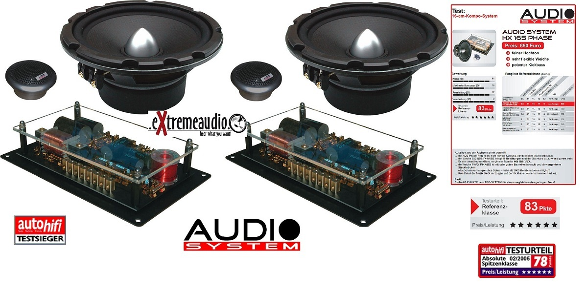Audio System HX 165 Phase MK2 165 mm, high-end COMPO-HX165