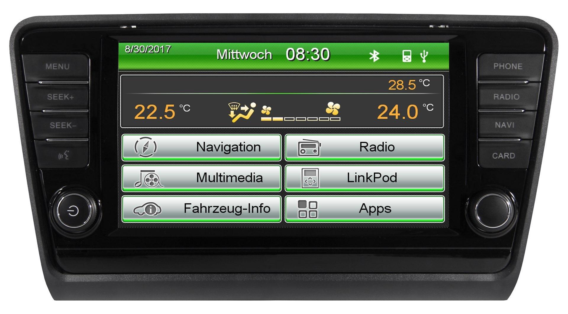 ESX VN830-SK-OC3 Naviceiver für Skoda Octavia inkl. iGo-Primo Navigations-Software