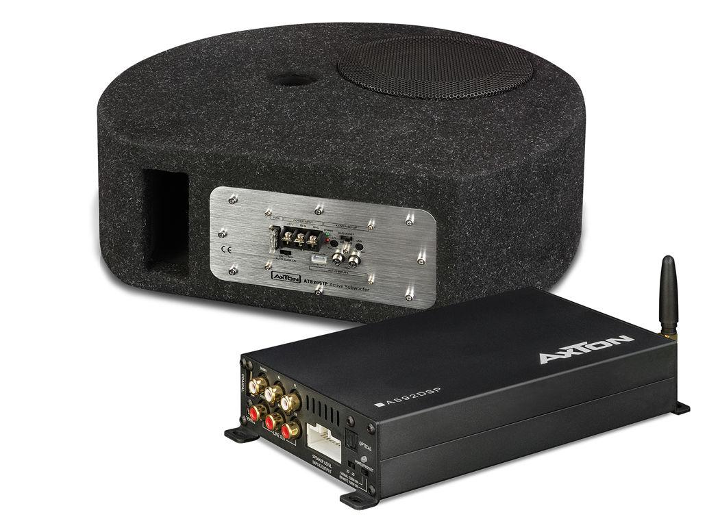 Axton Paket 4 - Plug & Play DSP-Verstärker + Aktivsubwoofer für die Reserveradmulde