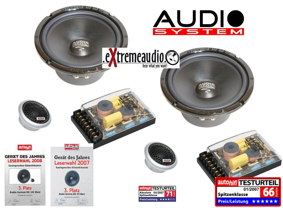 Audio System HX 165 Dust MKII 165 mm, 2Wege HighEnd Composystem