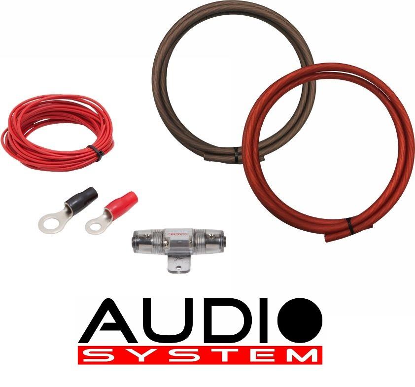 AUDIO SYSTEM Z-PCS 20-2 Kabelset Anschlußset 20mm² für Verstärker 2 meter