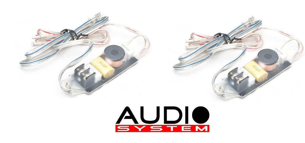 AUDIO SYSTEM FWK Frequenzweichen / Crossover 1 Paar (2 Stück) Hochton-Kabelweiche mit 4-facher Akustikanpassung