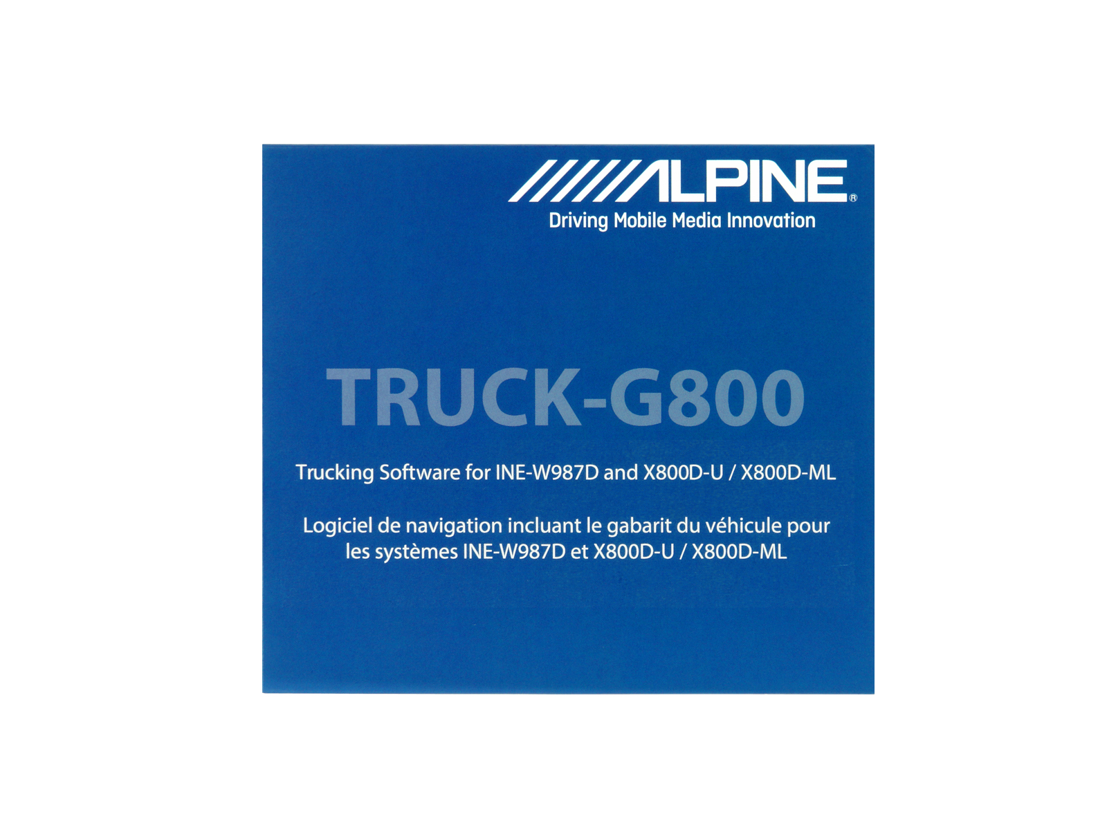 Alpine TRUCK-G800 Camping, Caravan & LKW Software für INE-W987D / X800D-U / X800D-ML / X800D-V / X800D-V447 / X800D-S906