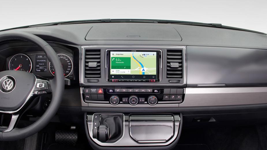 Alpine X803D-T5 8-Zoll Premium-Infotainment-System für Volkswagen T6 & T5 Facelift T6 (7 H/E/J) mit Navigationssystem, Apple CarPlay und Android Auto Unterstützung