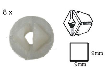 RTA 420.104-0 Ancora corpo 9 x 9 x 10 mm per 4,8 millimetri vite autofilettante