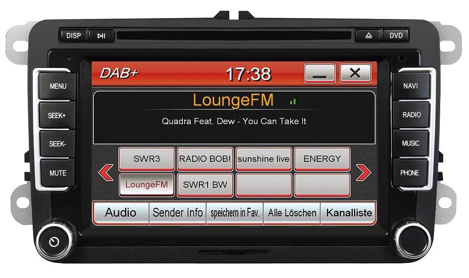 ESX Naviceiver VN710-VW-U1-DAB für VW, Seat und Skoda Fahrzeuge