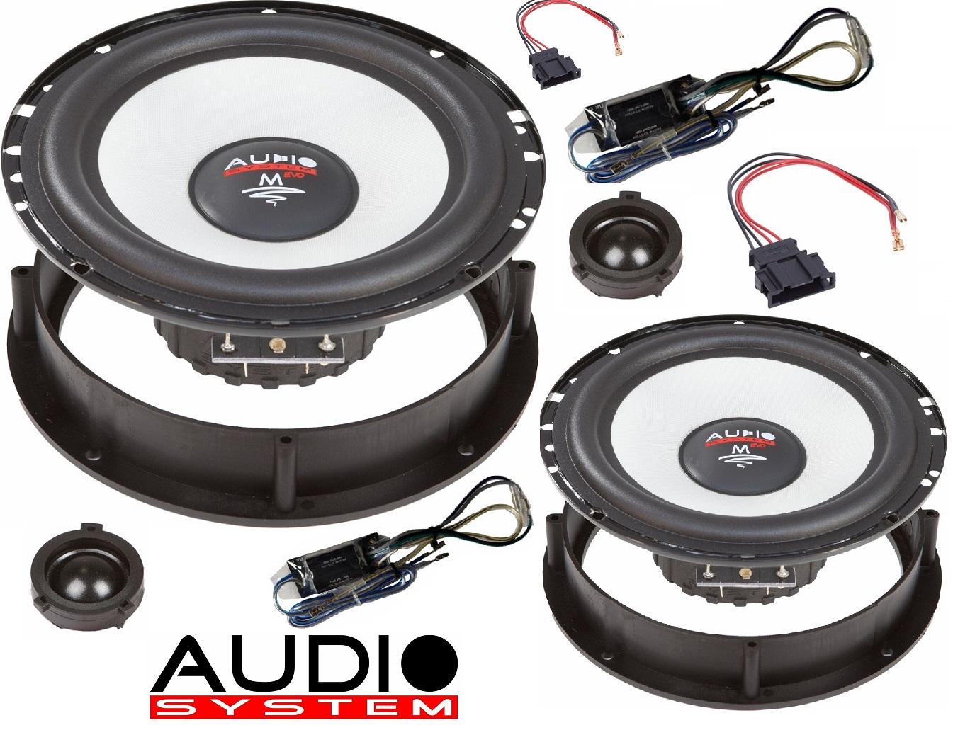 Audio System M 165 LUPO, AROSA EVO 2 - 16,5cm 2-Wege Lautsprecher VW LUPO, SEAT AROSA, SEAT MII, SKODA CITY GO, VW UP