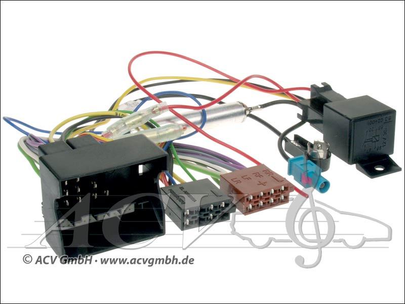 ACV 1230-47 Opel ISO Adaptateur dantenne avec alimentation fantôme