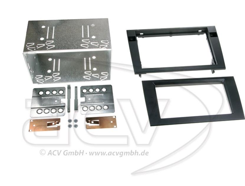 ACV 391320-15-1 (Rubber-Touch) Doppel-DIN Komplettset Rubber Touch für AUdi A4 und Seat Exeo