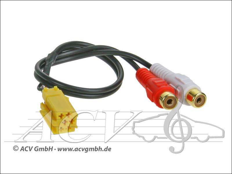ACV 1424-08 AUX Adapter für Alfa / Fiat 6-Pol Mini-ISO gelb